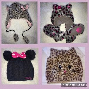 Other - 💕❄️Set of 4 girls winter hats❄️ 💕